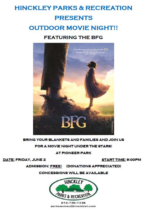 Hinckley Outdoor Movie Night: The BFG