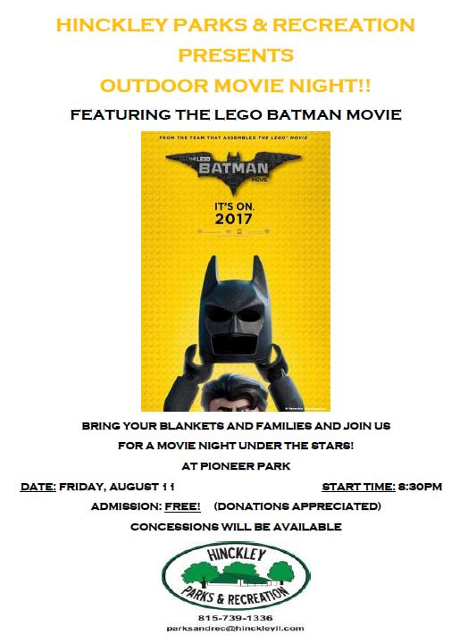Hinckley Outdoor Movie Night: Lego Batman