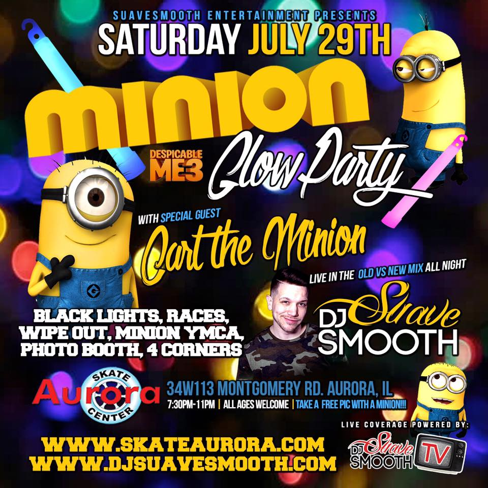 Minion Glow Party at Aurora Skate Center