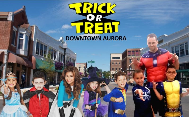 Trick-or-Treat in Downtown Aurora