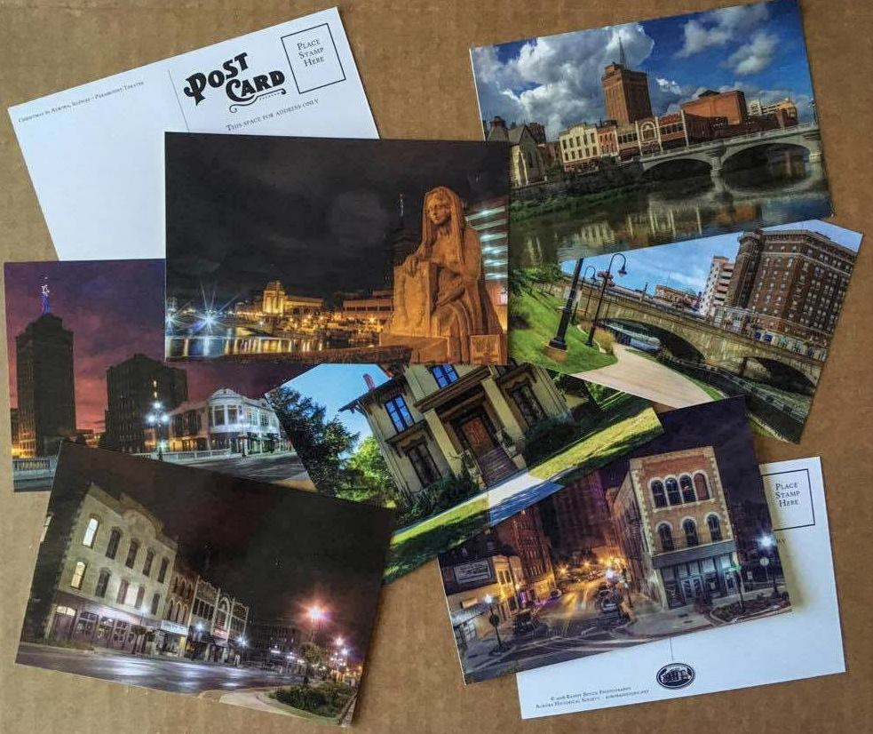 Randy Benzie postcards for the Aurora Historical Society