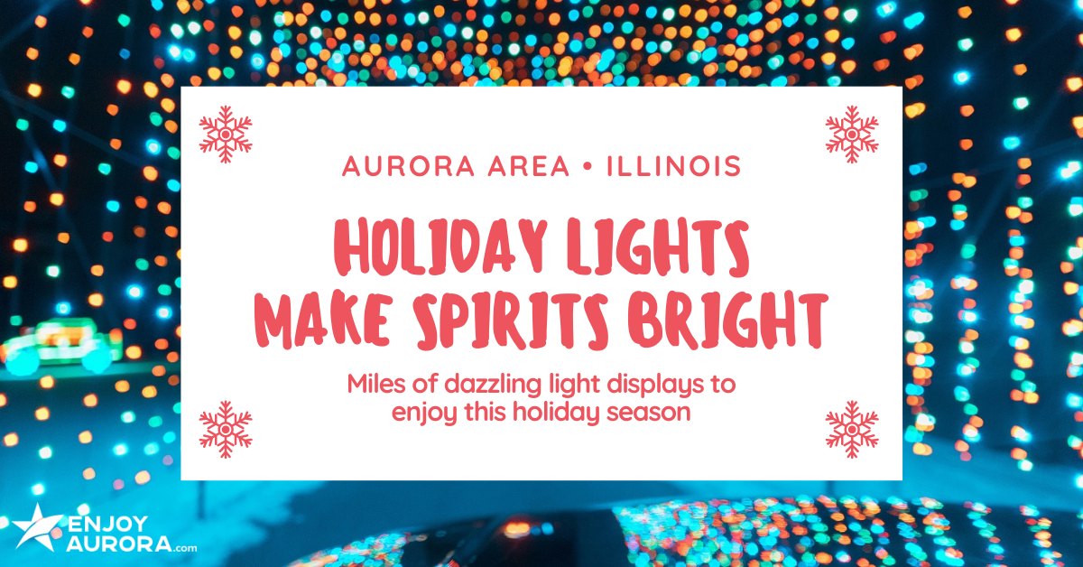 Holiday Lights in the Aurora Area of Illinois