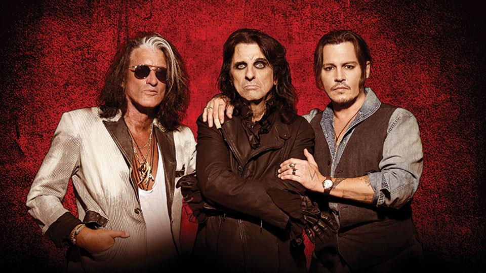 Hollywood Vampires with Joe Perry, Alice Cooper and Johnny Depp