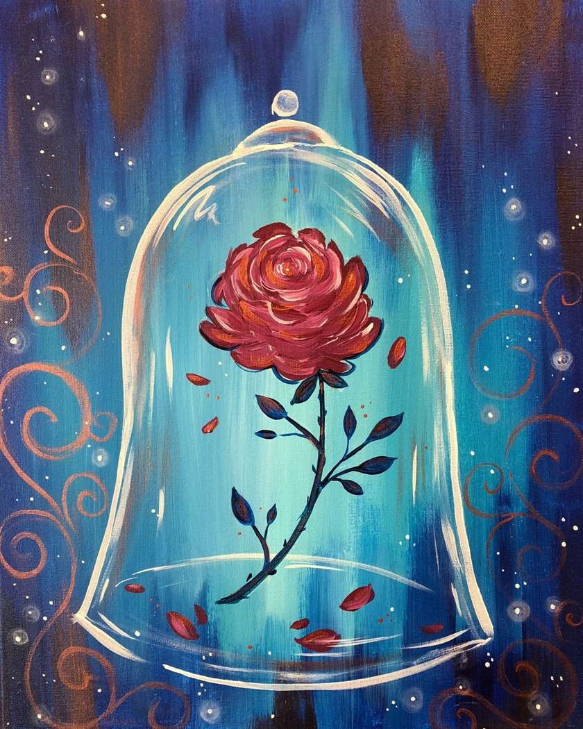 Beauty and the Beast Painting Party