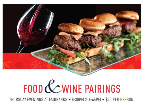 Food & Wine Pairings @ Fairbanks Steakhouse